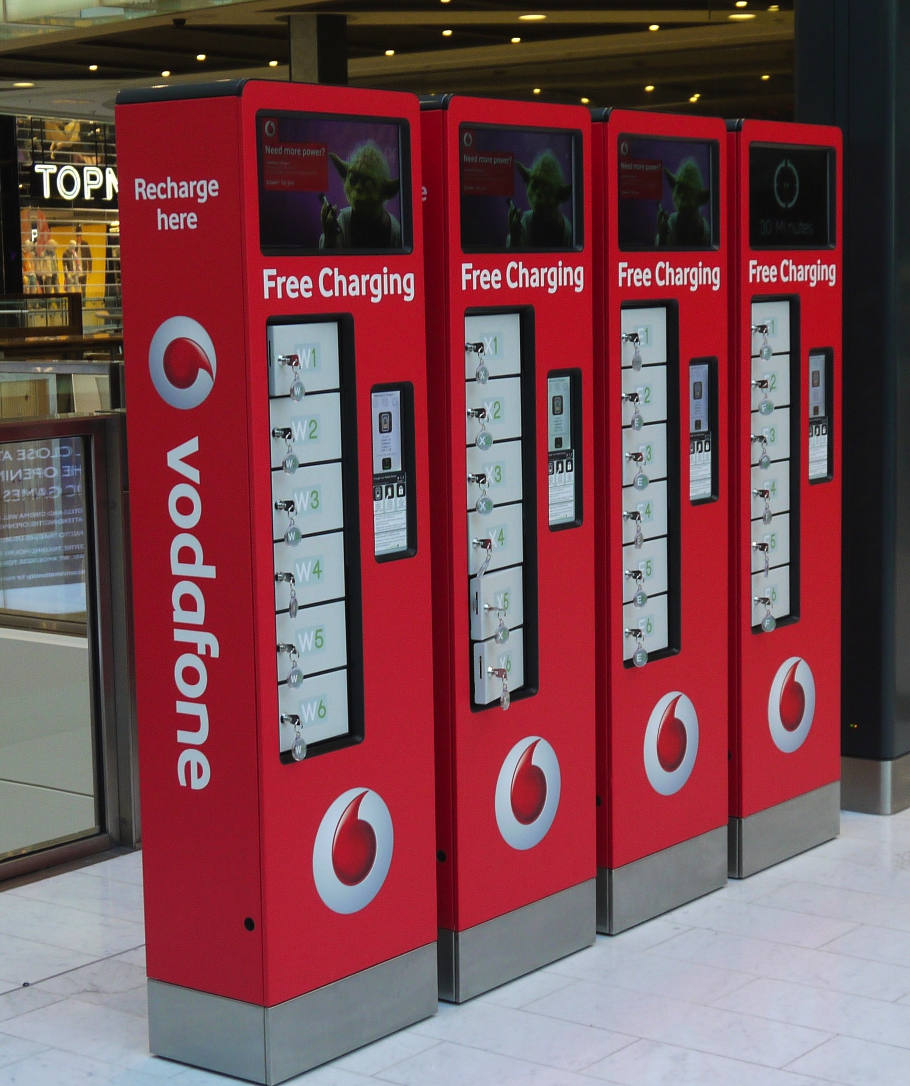 Mobile Device Charging Unit Westfield Stratford Inclusus